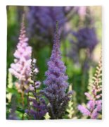 Summer Astilbe Fleece Blanket