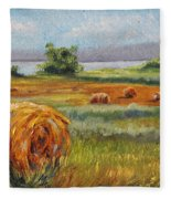 Summer Bales Fleece Blanket