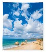 Summer Beach Algarve Portugal Fleece Blanket