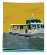 Summer Boat Ride 02 Walt Disney World Fleece Blanket