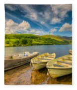 Summer Boating Fleece Blanket