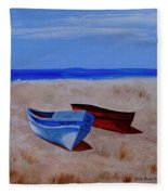 Summer Boats Fleece Blanket