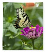 Summer Butterfly Fleece Blanket