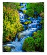 Summer Cascade Fleece Blanket