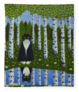 Summer Cat Fleece Blanket