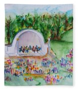 Summer Concert In The Park Fleece Blanket