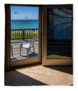 Summer Cottage Fleece Blanket