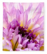 Summer Dahlia Fleece Blanket
