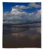 Summer Day At The Beach Fleece Blanket