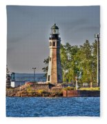 Summer Day View Of The Lighthouse  Fleece Blanket