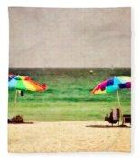 Summer Days At The Beach Fleece Blanket