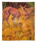 Summer Deer Fleece Blanket
