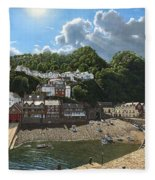 Summer Evening Clovelly North Devon Fleece Blanket