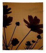 Summer Evening Cosmos  Fleece Blanket