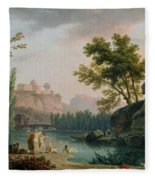 Summer Evening Landscape In Italy Fleece Blanket
