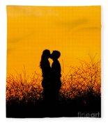 Summer Evening Love Fleece Blanket