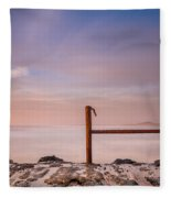Summer Evening On North Jetty Fleece Blanket