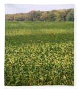 Summer Farm Field Fleece Blanket
