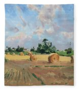 Summer Fields In Georgetown On Fleece Blanket