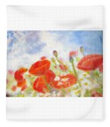 Summer Flowers Fleece Blanket