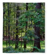 Summer Forest Fleece Blanket
