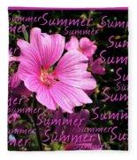 Summer Greetings Fleece Blanket