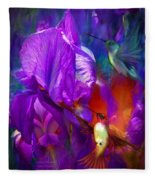 Summer Hummers Fleece Blanket