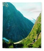 Summer In Alaska Fleece Blanket