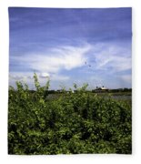 Summer In Bridgehampton Fleece Blanket