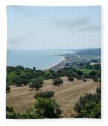 Summer In Italy Fleece Blanket