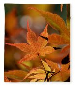Summer Japanese Maple - 3 Fleece Blanket