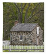 Summer Kitchen In Spring - Colonial Stone Fleece Blanket