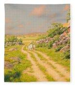 Summer Landscape Fleece Blanket