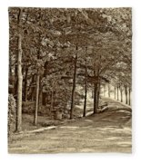 Summer Lane Sepia Fleece Blanket