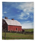 Summer Mancos Barn  Fleece Blanket