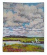 Summer Marsh Fleece Blanket