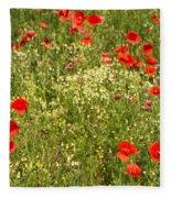 Summer Meadow Background Fleece Blanket
