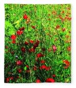 Summer Meadow Fleece Blanket