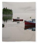 Summer Morning Stillness Fleece Blanket