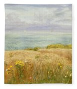 Summer On The Cliffs Fleece Blanket