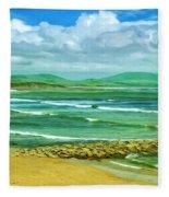 Summer On The Irish Coast Fleece Blanket