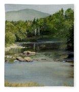 Summer On The River In Vermont Fleece Blanket