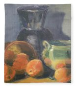 Summer Oranges Fleece Blanket