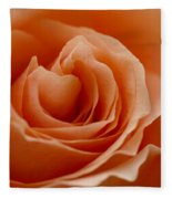 Summer Peach Fleece Blanket
