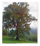 Summer Poplar Tree Filtered Fleece Blanket