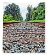 Summer Railroad Tracks Fleece Blanket