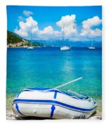 Summer Sailing In The Med Fleece Blanket