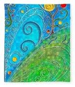 Summer Solstice Fleece Blanket