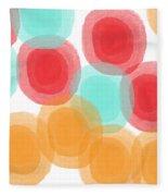 Summer Sorbet- Abstract Painting Fleece Blanket