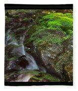 Summer Stream Waterfall Fleece Blanket
